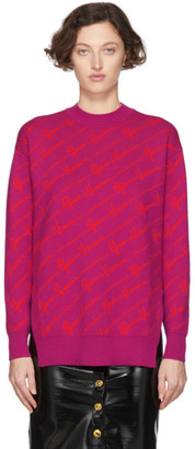 Versace Pink Wool Gianni Sweater