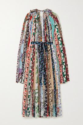 Stella McCartney Gabriela Printed Silk Crepe De Chine And Tulle Maxi Dress - Pink