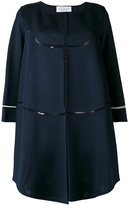 Gianluca Capannolo cropped sleeve coat - women - Elastodiene/Polyamide/Polyester/Viscose - 40
