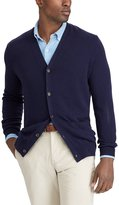 Polo Ralph Lauren Big and Tall Suede-Trim Merino Cardigan