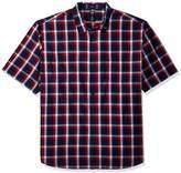 Dickies Men's Big and Tall Yarn Dyed Plaid Short Sleeve Shirt 6X