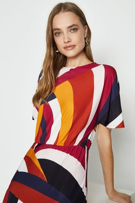 Coast Short Sleeve Cut About Jersey Midi Dress