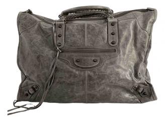 Balenciaga Weekender Grey Leather Travel bags