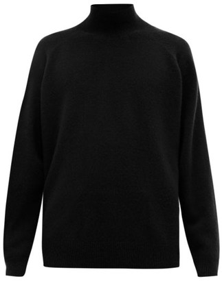 Raey Loose-fit Funnel-neck Cashmere Sweater - Black