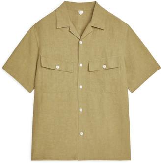 Arket Linen-Silk Short-Sleeved Shirt