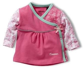 Noppies 14328 Baby Girls' Shirt Turn Over Girl Beach - Pink - 0-3 Months