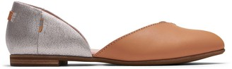 Toms Brown and Silver Metallic Women's Julie D'Orsay Flats