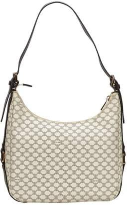 Celine White Cloth Handbags