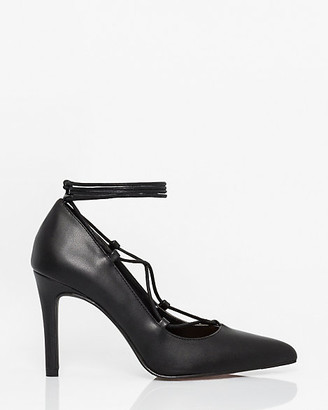 Le Château Faux Leather Ghillie Tie Pump