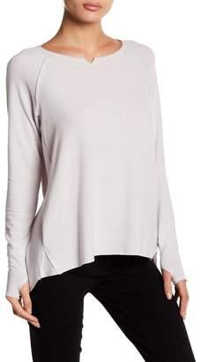 Michael Stars Notch Boatneck High/Low Long Sleeve T-Shirt