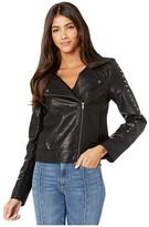 BB Dakota Stud Muffin Motorcycle Jacket (Black) Women's Clothing