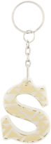 Accessorize Geo Print Letter S Keyring