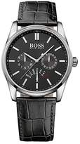 HUGO BOSS Men's 1513124 Black Leather Quartz Watch by