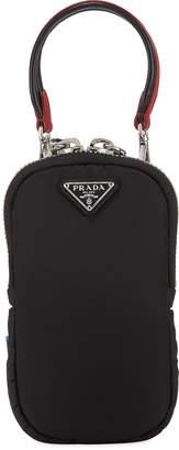 Prada Nylon Cargo Mini Bag w/ Top Handle & Removable Crossbody Strap