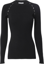Thierry Mugler Metal Side Detail Ribbed Sweater