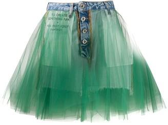 Unravel Project Tutu Denim Skirt