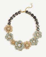 Ann Taylor Floral Crystal Necklace