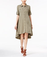 ECI Swing High-Low Utility Shirtdress