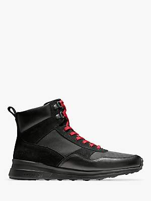 Cole Haan Grandpro Leather Hiker Boots, Black WR