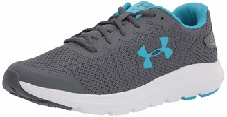 Under Armour Women's Surge 2 Road Running Shoe Pitch Gray/White/Equator Blue (105) 6