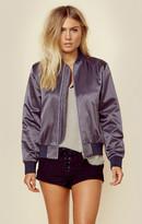 Map outerwear silk bomber jacket