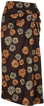 REJINA PYO Iris floral-print jersey midi skirt