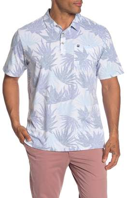 Travis Mathew A Grade Hawaiian Floral Print Polo Shirt
