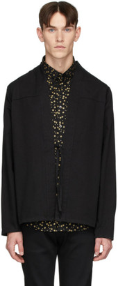 Naked & Famous Denim Denim SSENSE Exclusive Black Kimono Shirt