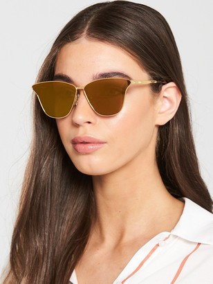 McQ Cat Eye Sunglasses - Gold/Bronze