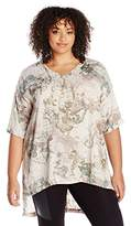 Melissa McCarthy Women's Plus Size V-Neck One Pocket Tee