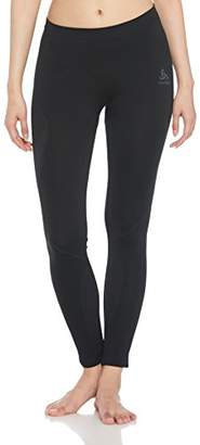 Odlo Women's SUW Bottom Pant Performance Light Leggings, Black Graphite Grey, L