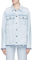 Current/Elliott 'The Vintage BoyfriendTM Trucker' frayed denim jacket