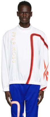 Reebok by Pyer Moss White Loose Mock Neck Sweater