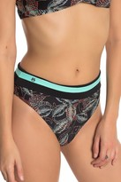 Maaji Panther Print High Waist Reversible Cheeky Cut Bikini Bottoms