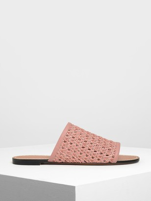 Charles & Keith Woven Sliders