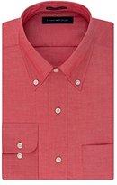 Tommy Hilfiger Men's Non Iron Regular Fit Solid Button Down Collar Dress Shirt