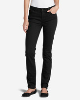 Eddie Bauer Women's StayShape® Straight Leg Black Jeans - Slightly Curvy
