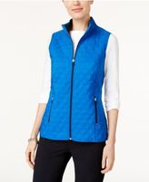 Alfred Dunner Easy Going Quilted Active Vest