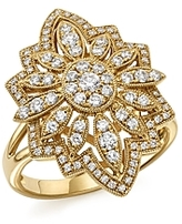 Bloomingdale's Diamond Statement Ring in 14K Yellow Gold, .80 ct. t.w. - 100% Exclusive