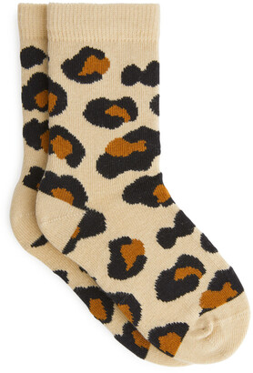 Arket Animal Jacquard Socks, 2 Pairs
