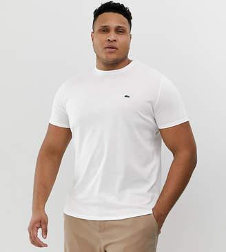Lacoste logo crew neck t-shirt in white