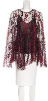 Opening Ceremony Glitter-Accented Flared Blouse w/ Tags