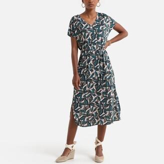 Anne Weyburn Floral Print Midi Dress