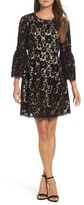 Eliza J Petite Women's Bell Sleeve Fit & Flare Dress