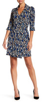 Laundry by Shelli Segal Geo Print Wrap Dress (Petite)