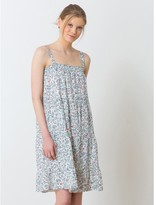 Somewhere Cotton voile dress with straps, exclusive Indian print, HIZA