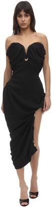Silk & Viscose Jacquard Corset Dress