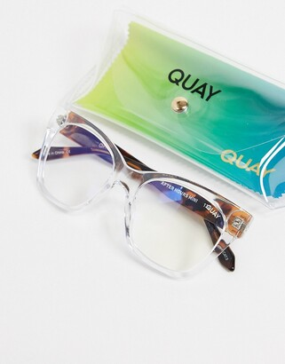 Quay After Hours mini womens blue light sunglasses in clear