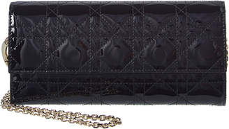 Christian Dior Lady Patent Wallet On Chain