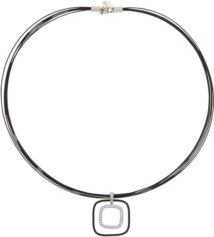 Alor Multi-Row Square Diamond Pendant Necklace
